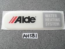 ALDE heating system resin badge for caravan or motorhome AHSB1