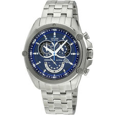 Citizen Chronograph Blue Dial Stainless Steel Quartz Men's Watch AT078852L