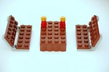 LEGO 2 x Reddish Brown Park Town Benches Chairs with Table  for Minifigs NEW