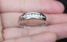 New 10K Size 10.25 Mens 1/4ct Natural Diamond Wedding Band Ring White Gold Men's