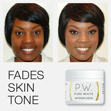 PURE WHITE FACE WHITENING CREAM FADES SKIN TONE CLEARS BLEMISHES & AGE SPOTS