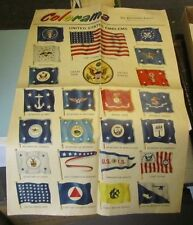 1954 Philadelphia Inquirer Newspaper Colorama Section US Flags State History