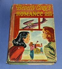 1941 BEVERLY GRAY'S ROMANCE College Mystery Series Clair Blank HCDJ 1st Edition