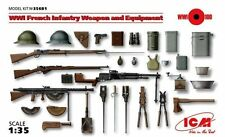 WW I FRENCH INFANTRY WEAPONS & EQUIPMENT (HOTCHKISS, CHAUCHAT, LEBEL) 1/35 ICM