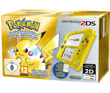 BEST PRICE! Nintendo 2DS Special Edition Pikachu Pokemon Transparent Yellow PAL