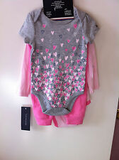 Tommy Hilfiger baby girl's 3-piece set - size 6-9 months