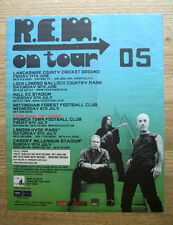 REM on tour 2005 dates - 12 x 10 TRADE MUSIC PRESS ADVERT 2004