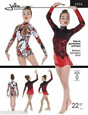Jalie Rhythmic Gymnastics Dress w/Attached Brief Sewing Pattern 3356 Women Girls