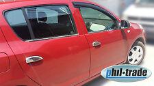 CROMO Maniglie delle porte pannelli ciechi-Dacia Logan/Sandero II 2 dal 2013 + STEPWAY in acciaio inox