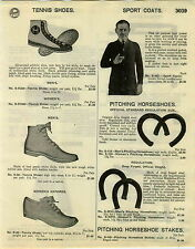 1929 PAPER AD Ked's High Top Tennis Shoes Pitching Horseshoes Croquet Sets