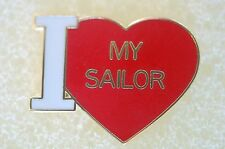 US USA USN Navy I Love My Sailor Military Hat Lapel Pin