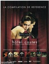 PUBLICITE ADVERTISING 095  2005  la compilation HOTEL COSTES  by S .POMPOUGNAC