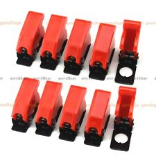 10pcs Red Plastic Safe Toggle Switch Flip Safety Cover Cap Guard Military Style