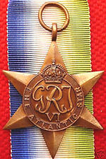 VINTAGE WW2 ATLANTIC STAR AUSTRALIA BRITISH WAR MEDAL 100% ORIGINAL AS ISSUED
