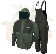 Frogg Toggs Forest Green Firebelly Jacket & Black Toadskin Bibs Rain Suit XL