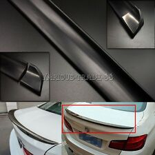 4.9ft PU DIY Universal Black Car Rear Roof Trunk Spoiler Wing Lip Trim Sticker