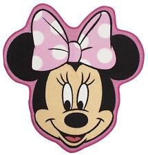 DISNEY MINNIE MOUSE MAKEOVER RUG MAT FOR GIRLS CHARACTER BEDROOM SHAPED 72x76CM