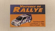 Certificat Voiture De Rallye De Collection « Ford Escort WRC 3-3 »TBE.