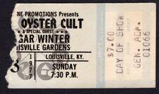 1977 Blue Oyster Cult Edgar Winter concert ticket stub Louisville KY