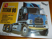 CHEVY TITAN 90 TRACTOR TRUCK AMT -603 MODEL KIT PLASTIC 1/25 F/S SEALED CABOVER
