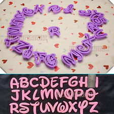 26 Alphabet Mold Disney Style Letter Cutter Fondant Cookie Stamp Cake Decorating
