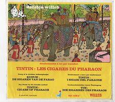 Tintin décalcomanies WILLEB. Les Cigares de Pharaon. Lombard 1978. Hergé