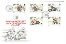 ISLE OF MAN COVER FDC MOTORCYCLE RACING, 1991 NON ADDRESSED MOTORCYCLE STAMPS