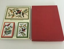 Vintage Deck of Playing cards HALLMARK IN BOX TWO DECKS YELLOW RED BIRDS