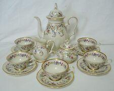 Rosenthal Eleanor Cream Demitasse Set Coffee Pot Creamer Sugar Cups Saucers