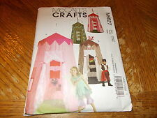 McCalls CRAFTS Pattern M5827 ~ 2 Styles Play Canopy ~ Princess, Pirate, More!