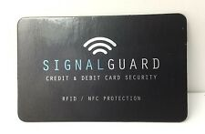 Signal Guard Credit Card Passport Protector RFID Blocker (JUST PLACE IN WALLET)