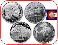 Mr The's Hobo Nickel Series -- Fisherman & Train -- 1st two silver coins in set