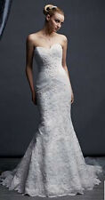 Ivory OLEG CASSINI Crl277 Wedding Dress
