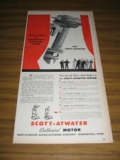 1946 Print Ad Scott-Atwater Outboard Motors Take a Peek Minneapolis,MN