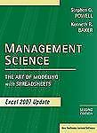 Management Science: The Art of Modeling with Spreadsheets, Excel 2007 Update