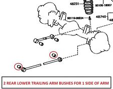 Toyota Land Cruiser HDJ80/HDJ81/FZJ80/HZJ81/HZJ79 Rear Lower Trailing Arm BushX2
