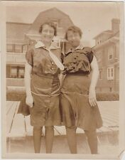 Vintage Antique Photograph Two Women Wearing Old Time Clothing Cool Outfits