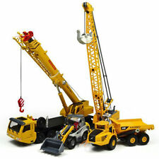 KDW Diecast Mega Lifter Crane Truck Shovel Cable Excavator Model Cars 4 pcs /set