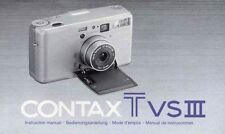 Contax T VS III Bedienungsanleitung / Manual Instruction neu