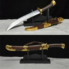 21'FOLDED STEEL ROSEWOOD BLADE HAND MADE CHINESE QING SWORD MEI HUA DAO