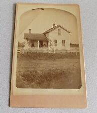 1890's Vintage Photo of Farmhouse Man & Woman on Front Porch