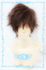 457 Kid the Phantom Thief/Kaitou Kiddo Kuroba Kaito Short Brown mix Cosplay Wig
