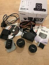 Canon EOS M 18.0MP Camera with 18-55mm, 22mm lens, 90EX speedlight & Lowepro Bag
