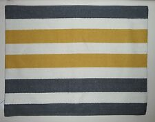 """POTTERY BARN Tri-Color Awning Stripe 20 x 26"""" Lumbar Pillow Cover, NEW"""