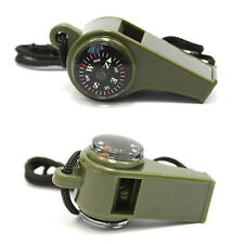3 in1 Whistle Compass Thermometer Outdoor Camping Hiking Emergency Survival Gear