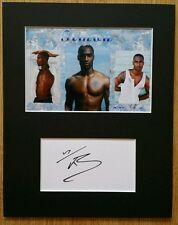Simon Webbe, 'Blue' hand signed mounted autograph.