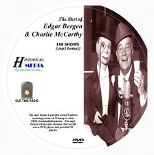 EDGAR BERGEN & CHARLIE McCARTHY - 168 Shows Old Time Radio MP3 Format OTR 1 DVD