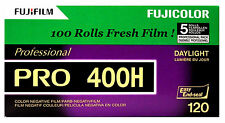 100 Rolls Fuji Pro 400H 120 Color Negative Film Daylight 400 FUJIFILM Exp:2018