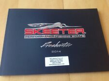 2014 Skeeter Freshwater Bass Fishing Boat Catalog Brochure Book Angler FX ZX TZX