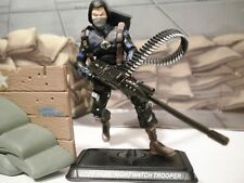 GI JOE ~ 2008 COBRA NIGHT WATCH TROOPER ~ HEAVY WEAPONS ~ 100% complete
